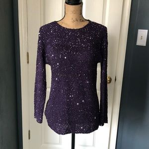 Chico's sparkly purple sequined sweater